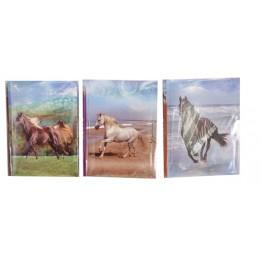 Dagbok med lås, hästmotiv