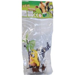Djur i påse 3cm, 6-pack Mini