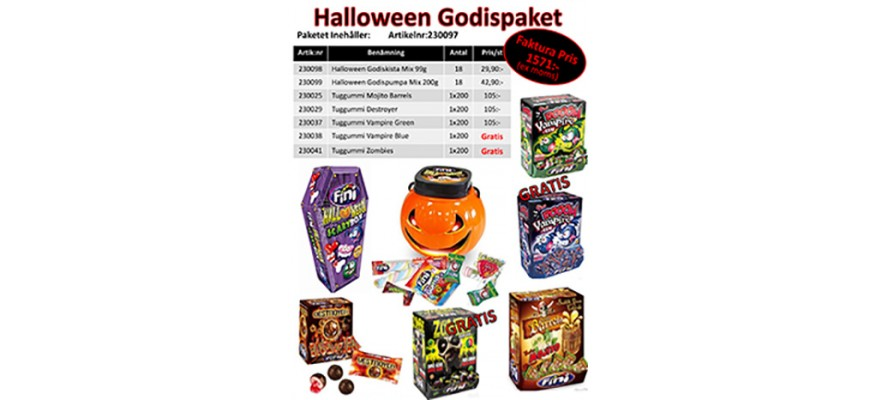 Halloween Godispaket