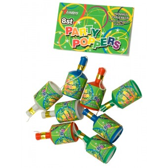 Party Poppers 8-p