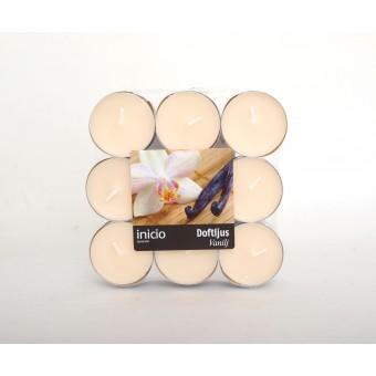 Värmeljus vanilj 18-pack