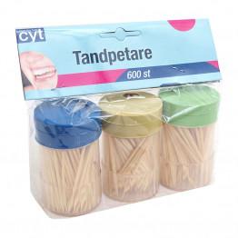 Tandpetare 3x200-pack
