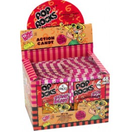 Pop Rocks poppande godis Jordgubb/Cola 2-pack - 48st i display