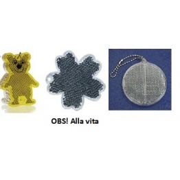 Reflexbricka hårdplast - 3 Olika