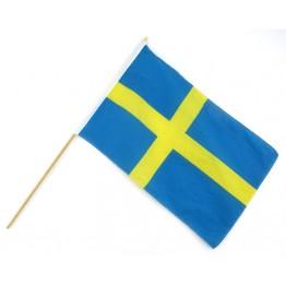 Sverigeflagga på träpinne