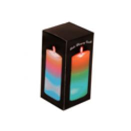 Stearinljus, växlande färger