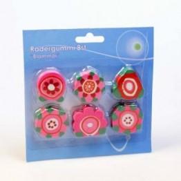 Radergummi blommor 6-pack