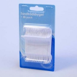 Tandtråd med bygel, 30-pack