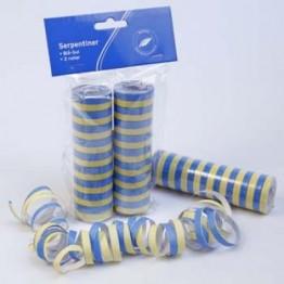 Serpentiner Gul/Blå 2-pack