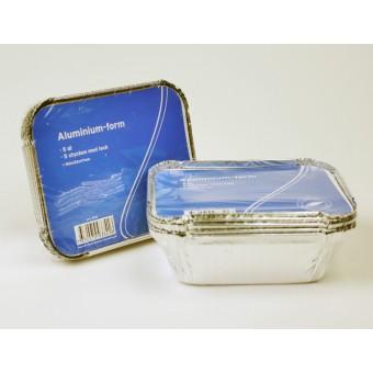 Aluminiumform 4dl 5-pack