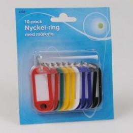 Nyckelbrickor 10-pack