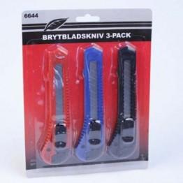 Brytbladsknivar 3-Pack