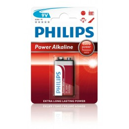 Batteri 9V Philips Power Alkaline