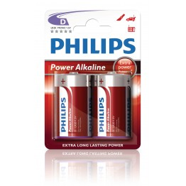 Batteri D Philips Power Alkaline