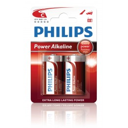 Batteri C Philips Power Alkaline