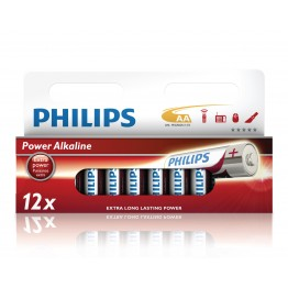 Batteri AA Philips Power Alkaline Multipack