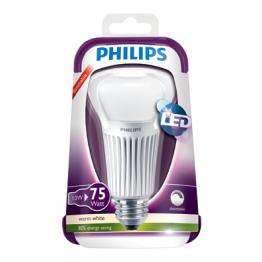 Philips LED Normallampa 13-75W E27 Frostad Dimbar