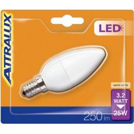 Attralux LED Kron 25W  E14 Frostad
