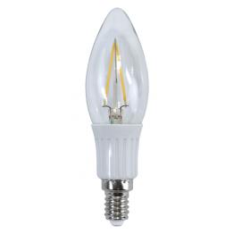 Promo LED Kronlampa E14 Klar 2W (19W)