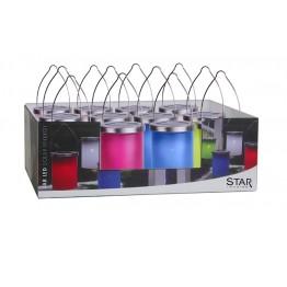 Solenergi Plastlyktor i display 12st