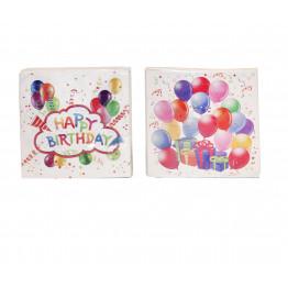 Servett Happy Birthday 20-p